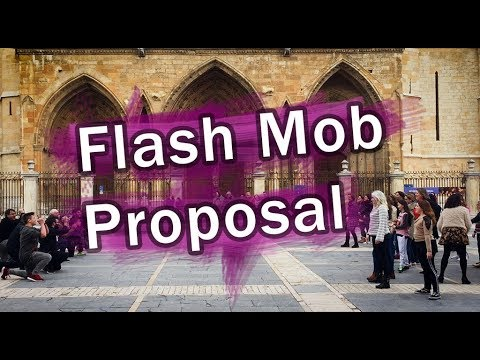 Flash Mob Proposal 2018  Marry You Bruno Mars