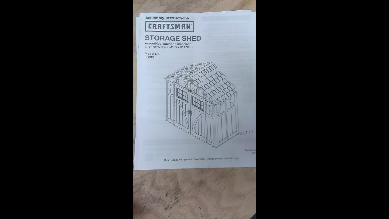 Garden Sheds At Sears craftsman 8ft4ft #shed #sears #assembly #photos #diy - youtube