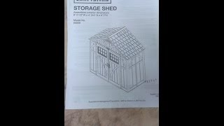 Craftsman 8ft by 4ft shed Sears assembly photos DIY