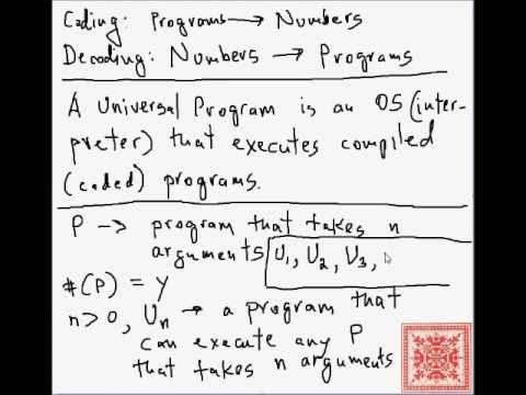 Theory of Computation: Universal Programs (Part 01)