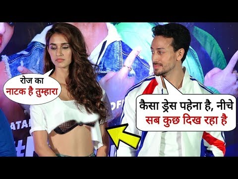 Tiger Shroff Fights With Disha Patani For Her BAD Dressing Style