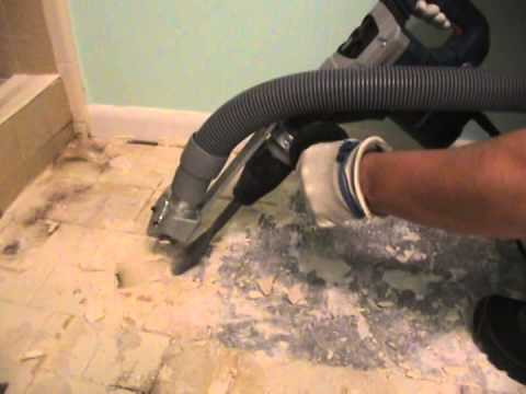 How to remove bathroom tile - Yalaha FL - YouTube