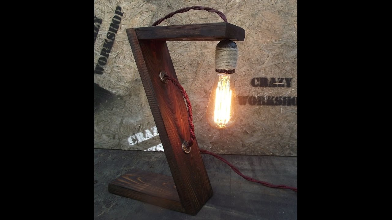 Лофт светильник своими руками
