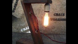 Настольный светильник в стиле loft, своими руками /Table lamp in the style loft, with his own hands(, 2016-10-03T08:07:17.000Z)
