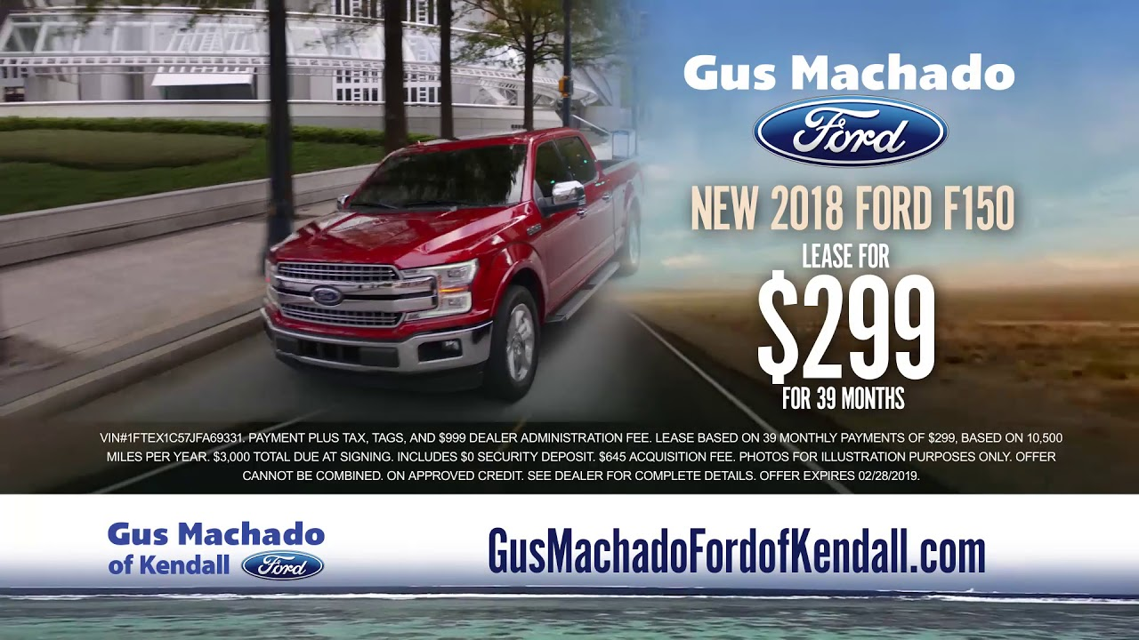 Gus Machado Ford Kendall >> New Lease Deals At Gus Machado Ford Kendall Miamicars Com
