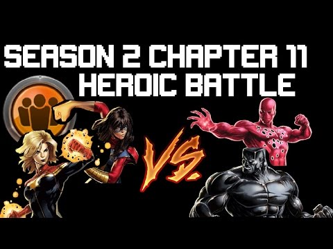 [MAA] Marvel Avenger Alliance Season 2 Chapter 11 Heroic Battle : Captain Marvel And Kamala Khan
