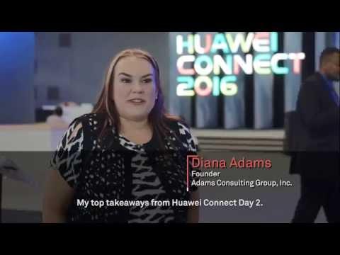 Huawei Connect 2016: Dianna Adams talks 5G, IoT & Cloud Computing