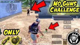 No Guns Challenge / Only Grenades and Molotov / Star Anonymous / PUBG MOBILE