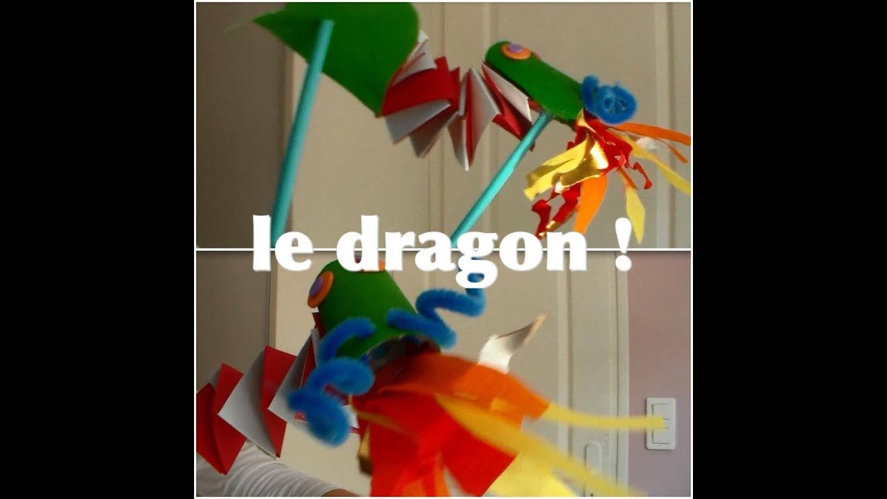 activit manuelle pour enfant le dragon youtube. Black Bedroom Furniture Sets. Home Design Ideas
