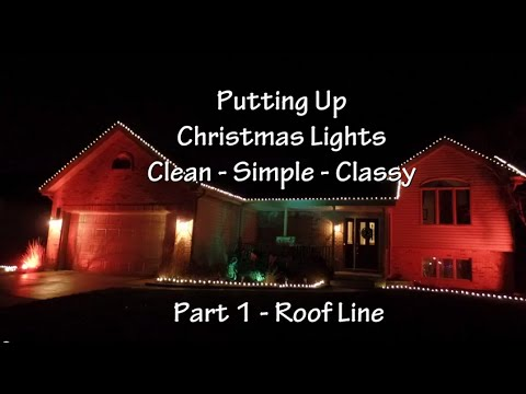 How To Put Up Christmas Lights Part 1 : Roof Line - YouTube