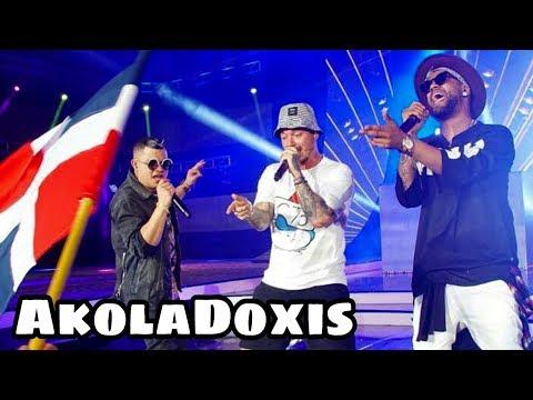 JOWELL Y RANDY con J BALVIN cantan BONITA en vivo en los PREMIOS HEAT 2017   AkolaDoxis PERÚ