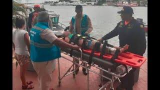 Una niña de 10 años se fracturó la pierna en atracción inflable de Playa Blanca