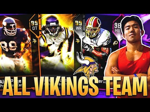 ALL TIME MINNESOTA VIKINGS TEAM! RANDY MOSS, ADRIAN PETERSON! Madden 19 Ultimate Team