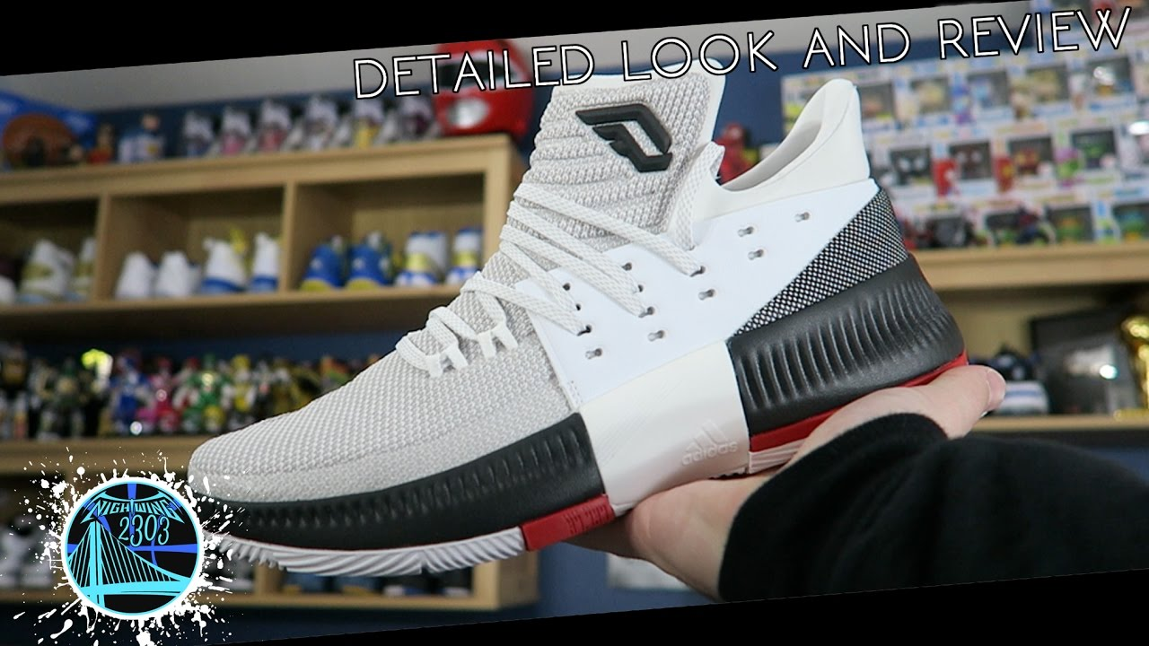 innovative design edae7 47941 adidas Dame 3 Rip City  Detailed Look and Review - YouTube