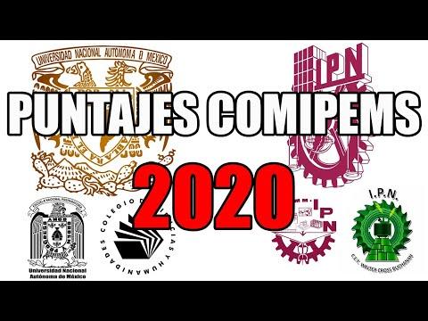 PUNTAJES COMIPEMS 2020