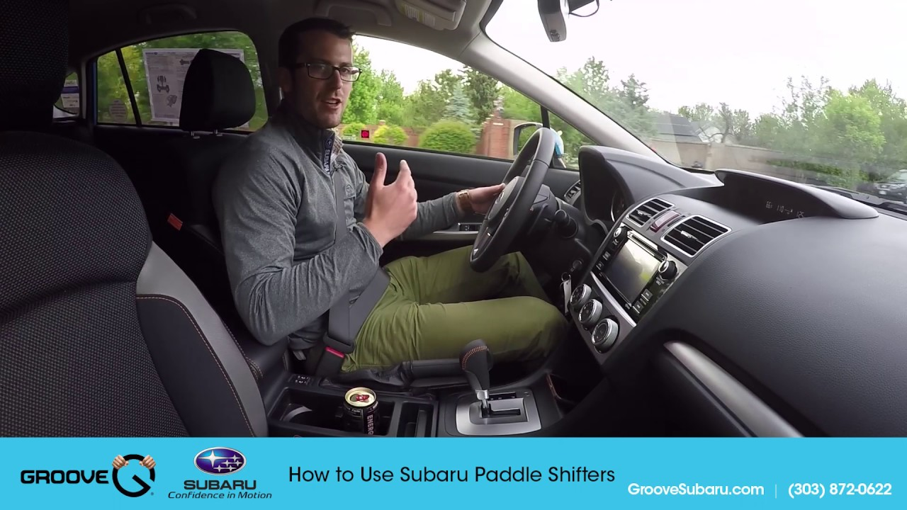 How to use Subaru paddle shifters