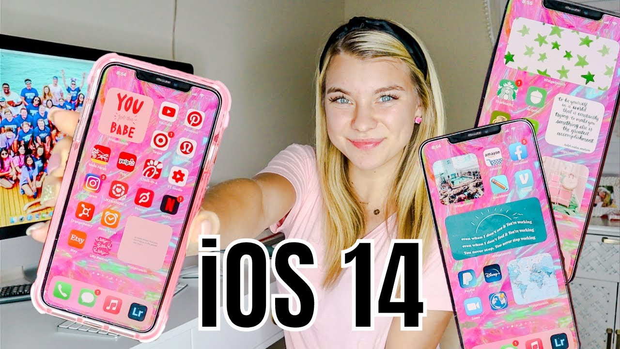 How To Customize Your Ios 14 Iphone By App Color Widgets Color Organizing More Youtube