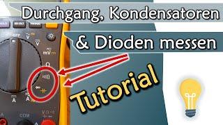 Durchgang, Kapazität und Dioden messen - Multimeter Tutorial Teil 2   Geräte #2