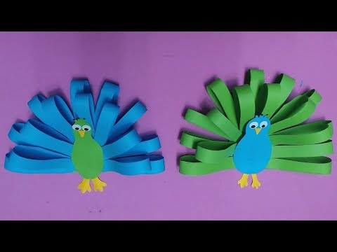 How to Make Peacock with Color Paper | DIY Paper Peacocks Making
