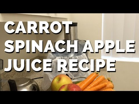 Fresh Carrot Spinach Apple Juice Recipe