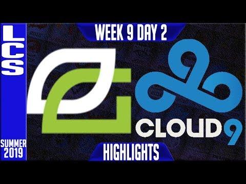 OPT vs C9 Highlights   LCS Summer 2019 Week 9 Day 2   Optic Gaming vs Cloud9