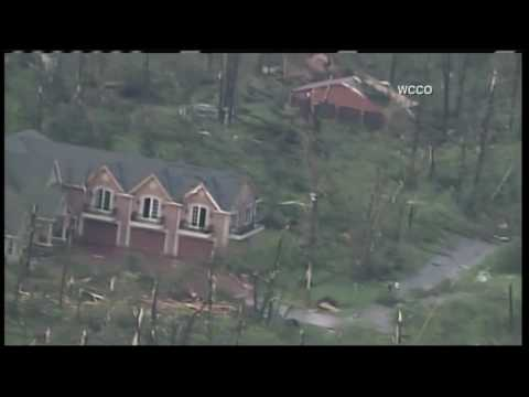 Footage of the tornado damage in Barron County Wisconsin