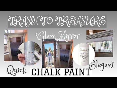 GLAM DIY HOME DECOR | SILVER MIRROR DECOR | GLITTER SPRAY RUST-OLEUM