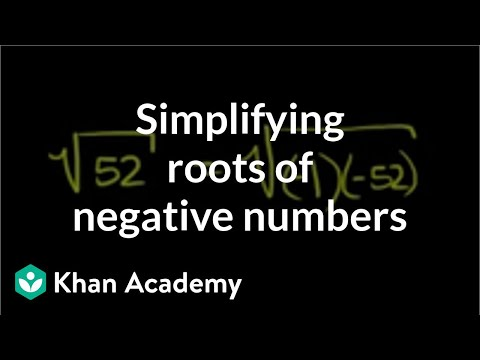 Imaginary roots of negative numbers   Imaginary and complex numbers   Precalculus   Khan Academy
