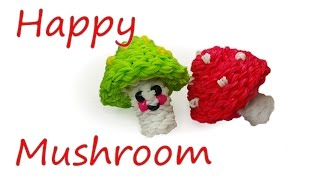 Happy Mushroom Tutorial by feelinspiffy (Rainbow Loom)