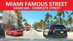 ✅ MIAMI FAMOUS STREET OCEAN DRIVE - MIAMI BEACH - DASH CAM