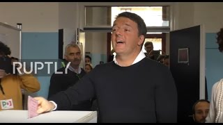 Italy  Renzi votes in referendum as his future hangs in the balance