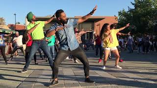 Burn Bhangra Fitness flash mob outside Mont-Royal Metro station