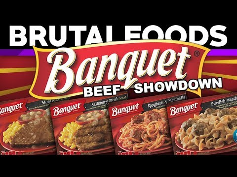 Banquet Beef Showdown - TV Dinner Reviews - brutalfoods