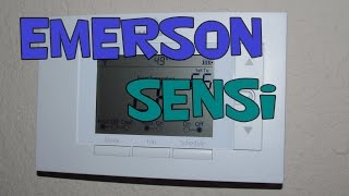 Emerson Sensi WiFi Smart Thermostat Unboxing and Installation