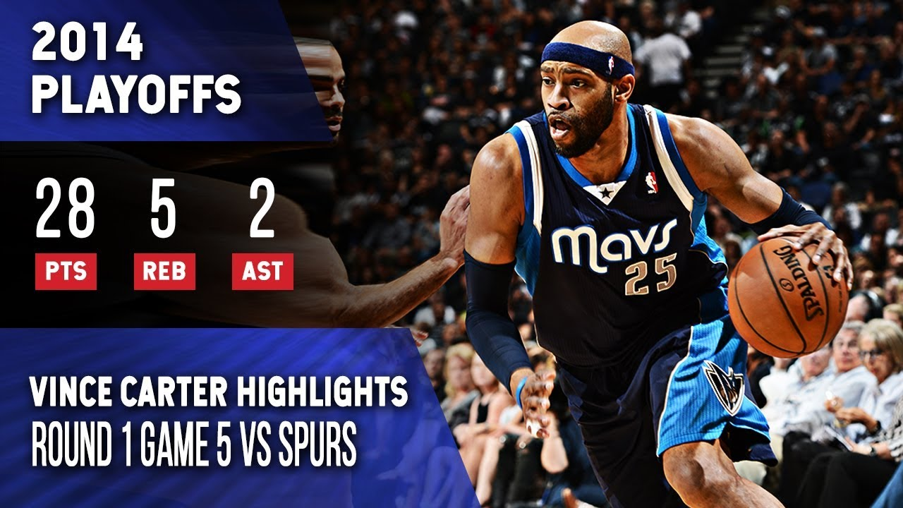 Vince Carter Highlights Playoffs Game 5 Mavericks vs Spurs ...