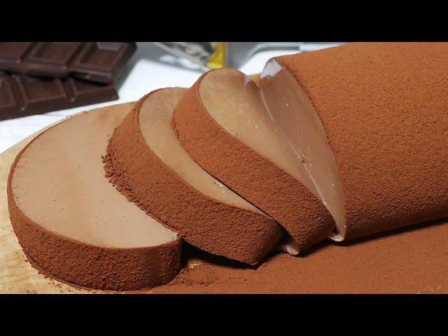 チョコレートムースケーキ'21 chocolate mousse cake 2021【あのチョコムースの21㎝型】【it's a No-Bake simple recipe】