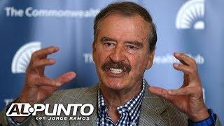 Vicente Fox revela lo que tienen AMLO y Trump en común y dice por qué se deben legalizar algunas dro