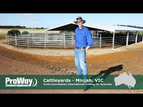 Proway  Cattleyards - Great Australasian International Trading Co. Minjah Farm - Minjah Victoria
