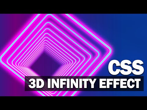3D Infinity Effect CSS/HTML Tutorial
