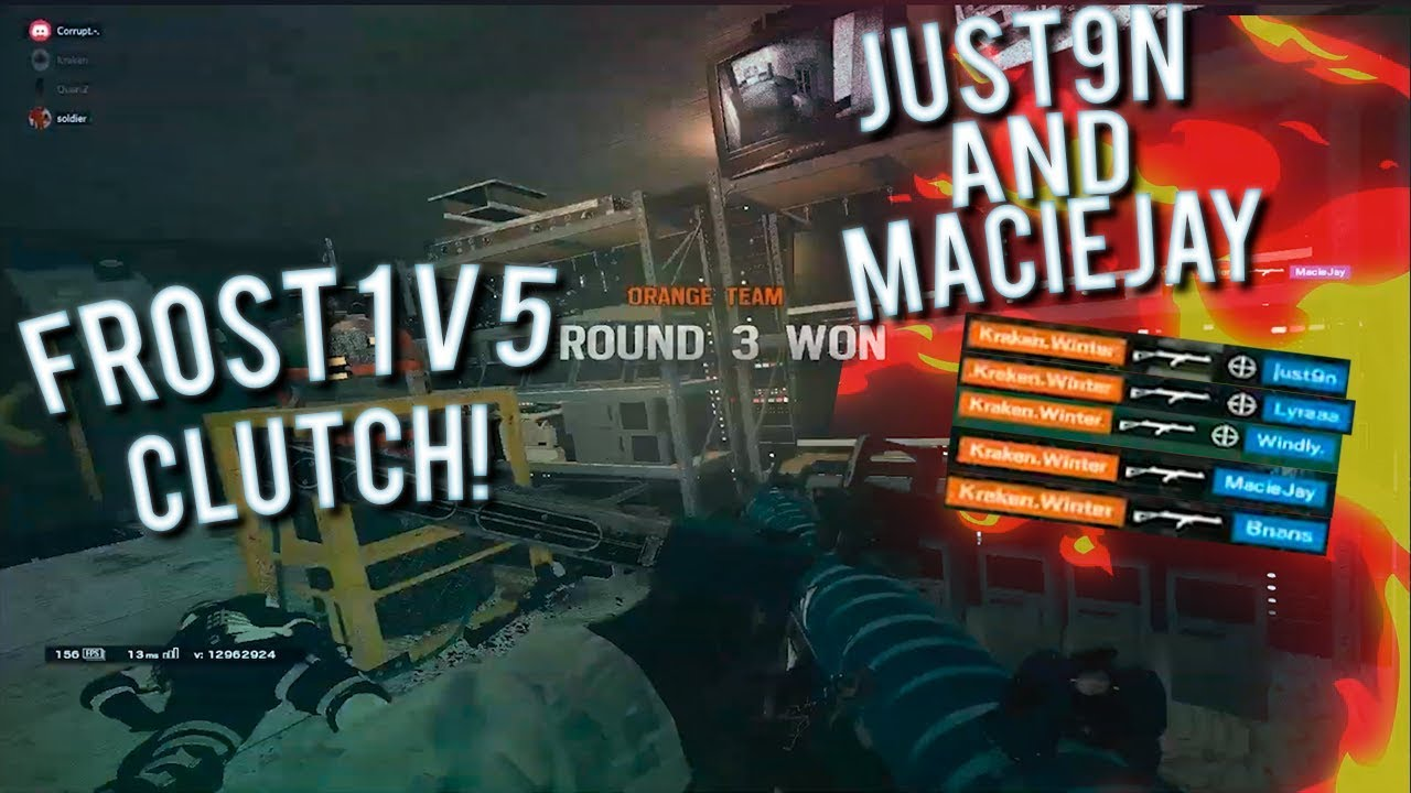 Awesome 1V5 Frost Clutch Against MacieJay And Just9n | SMG-11 Too OP! - Siege Stream Highlights #174