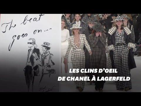 Karl Lagerfeld honoré par Chanel à la Fashion Week de Paris
