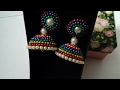 Multi color fully wrapped wedding style designer jhumkas - SSC Arts 79