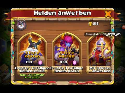Opening Tons Of Items, Rolling Heroes And Talents In CASTLE CLASH