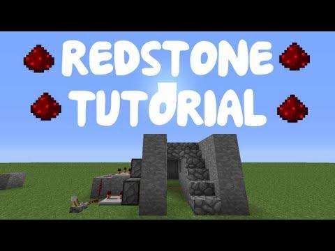 Minecraft 1.12: Redstone Tutorial - Secret Staircase Room!