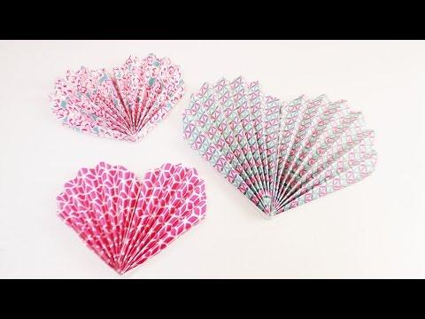 Fächer Herz für den Valentinstag | einfach & schnell falten | Geschenk & Dekoration | DIY Heart