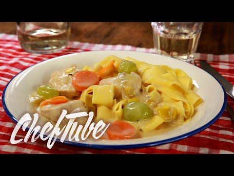 comment-faire-un-poulet-au-vin-blanc-et-aux-raisins---recette-dans-la-description