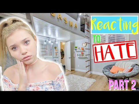 Reacting To Hate Comments on my ROOM TOUR! Part 2!   Sasha Morga