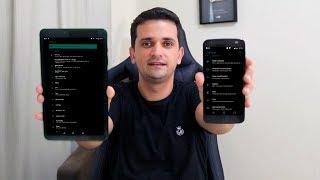 ANDROID 8 TOTALMENTE BLACK sem ROOT(Barra de notificações, gaveta de apps, configurações)2019