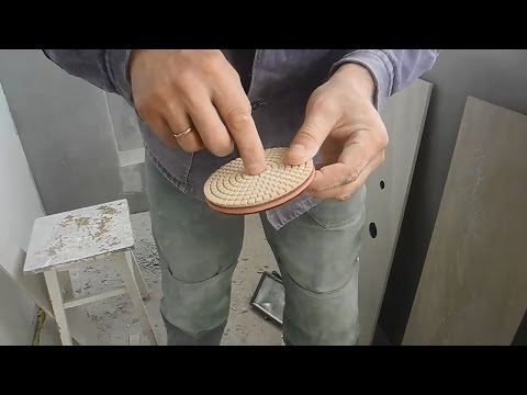 Резаный край плитки,делаем гладким,как заводской.