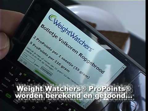 Weight Watchers App ProPoints berekenen met de streepjescode (barcode)